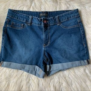 Forever 21+ Plus High Rise Cuffed Jean Shorts 14